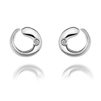 Hot Diamonds Sterling Silver & Diamond Swirl Stud Earrings - Product number 2877163