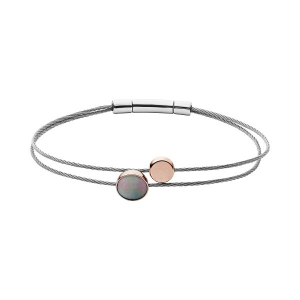 Skagen Anette Stainless Steel Mother Of Pearl Cable Bracelet - Product number 2878399