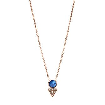 Fossil Geometric Appeal Ladies' Rose Gold Tone Necklace - Product number 2878496