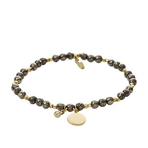 Fossil Ladies' Yellow Gold Tone Pyrite Wellness Bracelet - Product number 2878526