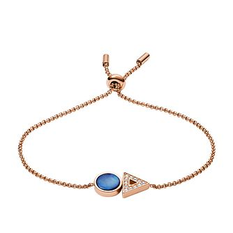 Fossil Geometric Appeal Ladies' Rose Gold Tone Bracelet - Product number 2878550