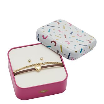 Fossil Vintage Motifs Ladies' Bracelet & Earring Gift Set - Product number 2878569