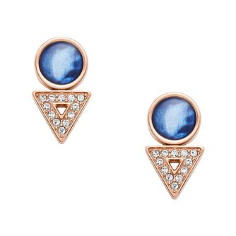 Fossil Geometric Appeal Ladies' Rose Gold Tone Stud Earrings - Product number 2878585
