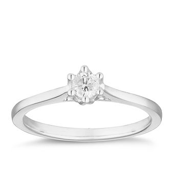 9ct White Gold 0.15ct Diamond Solitaire Ring - Product number 2879506