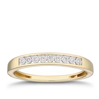 9ct Yellow Gold Diamond Illusion Set Eternity Ring - Product number 2880784