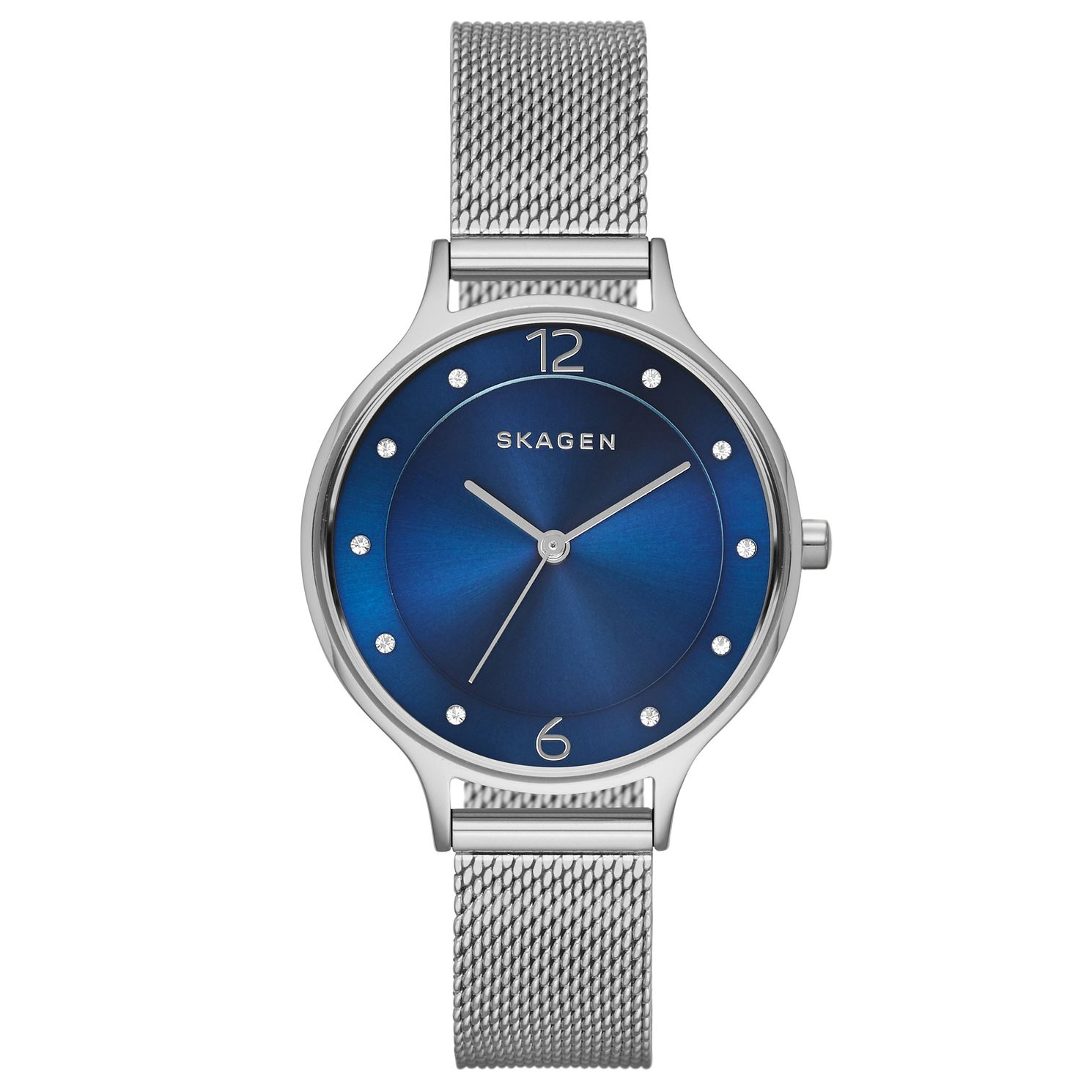 Skagen Ladies' Anita Blue Dial Stainless Steel Mesh Watch - Product number 2880865