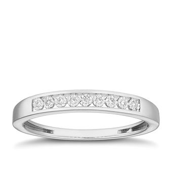 9ct White Gold Diamond Illusion Set Eternity Ring - Product number 2881012