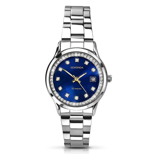Sekonda Ladies' Stainless Steel Dark Blue Dial Watch - Product number 2881209