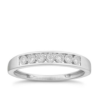 9ct White Gold Diamond Illusion Set Eternity Ring - Product number 2881411