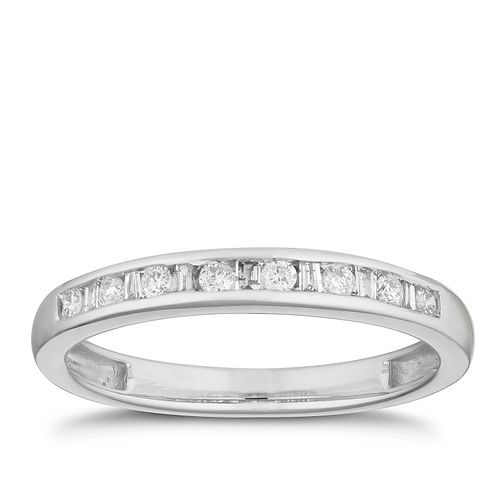 9ct White Gold 0.15ct Diamond Channel Set Eternity Ring - Product number 2881691