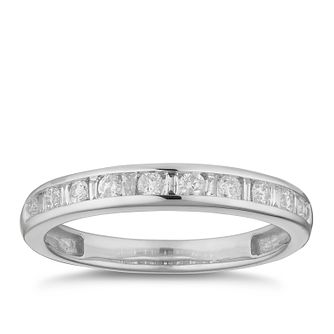 9ct White Gold 0.25ct Diamond Channel Set Eternity Ring - Product number 2881845