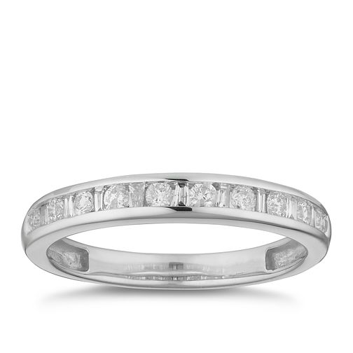 9ct White Gold 1/4ct Diamond Channel Set Eternity Ring - Product number 2881845