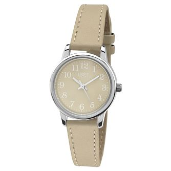 Limit Ladies' Silver Tone & Beige Strap Watch - Product number 2882833