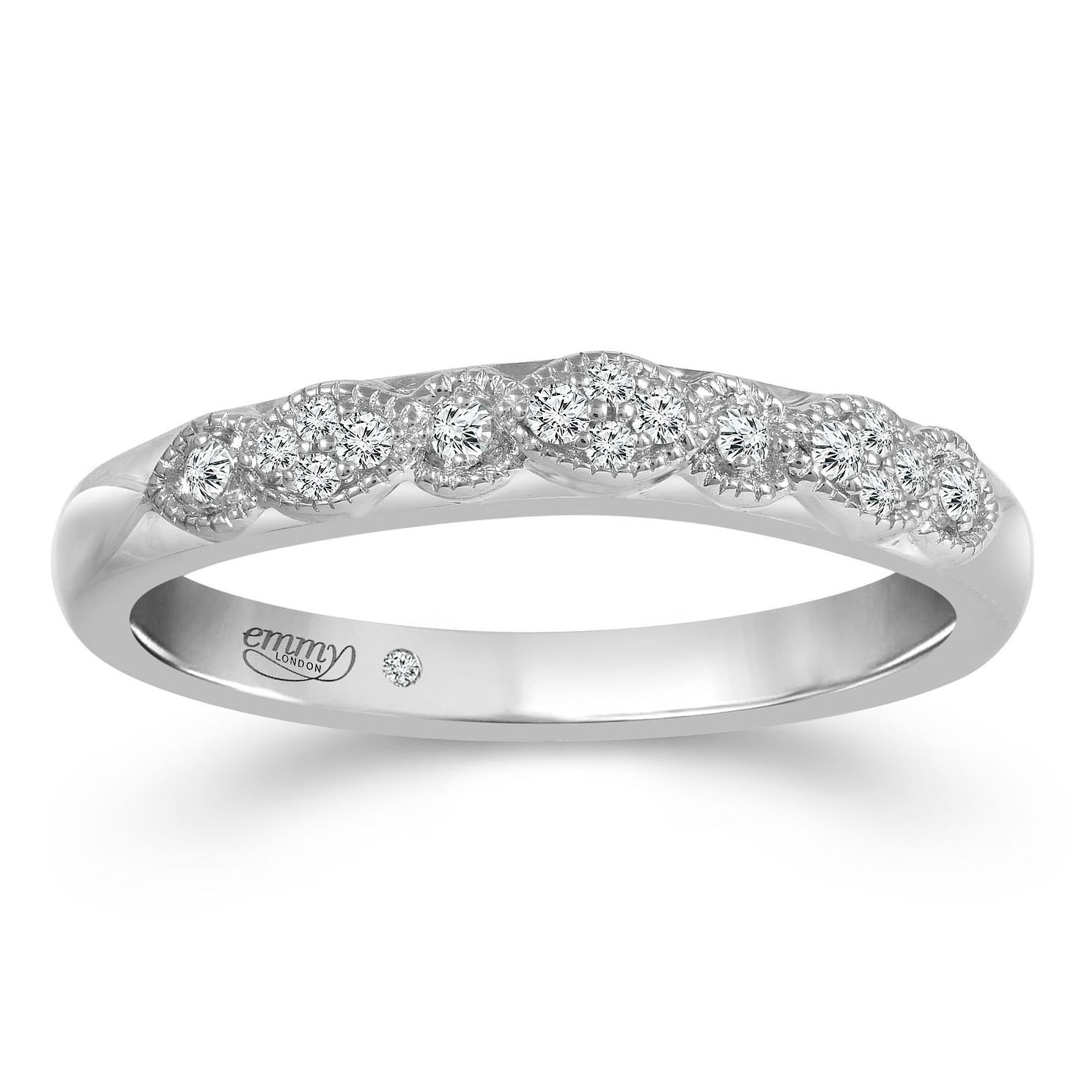 Emmy London 18ct White Gold Diamond Eternity Ring - Product number 2883791