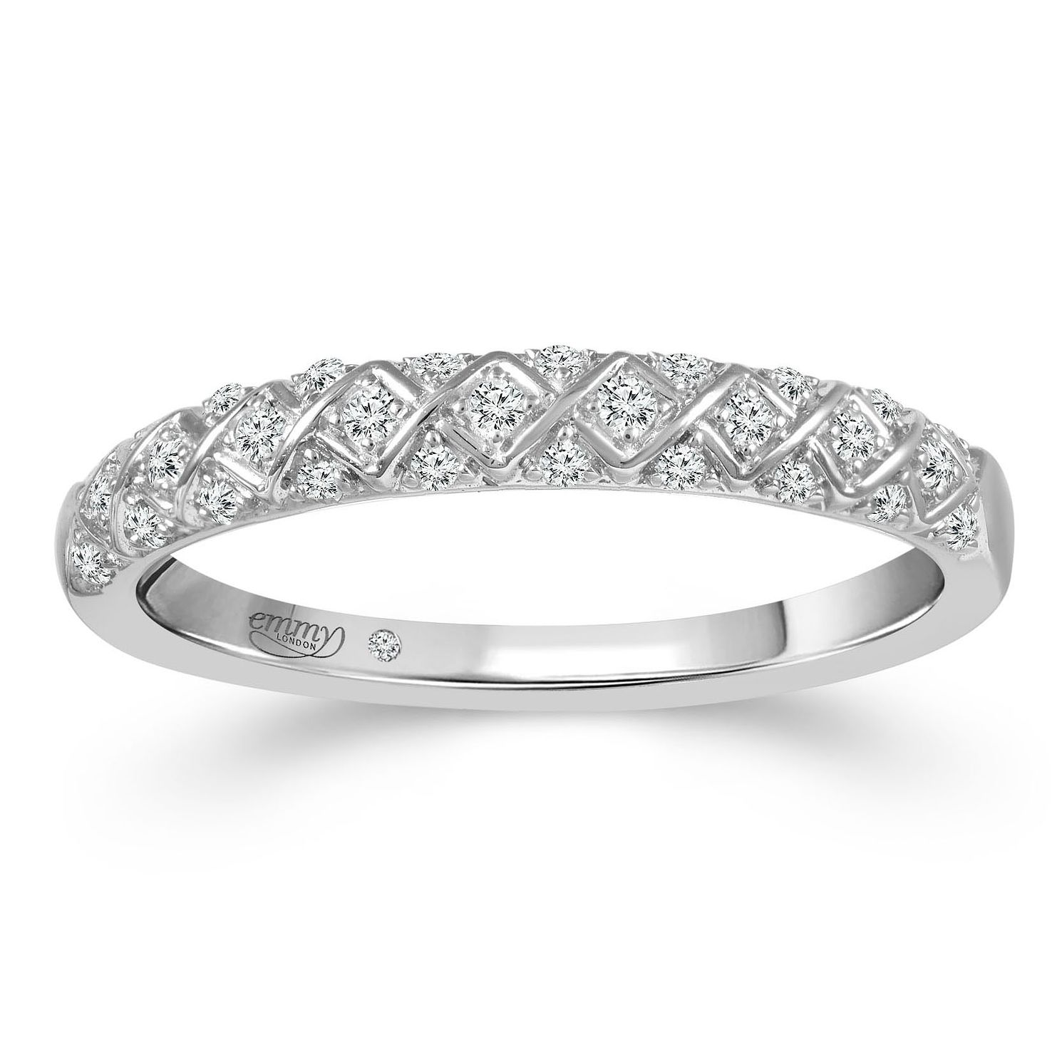 Emmy London 18ct White Gold 0.12ct Diamond Eternity Ring - Product number 2884119