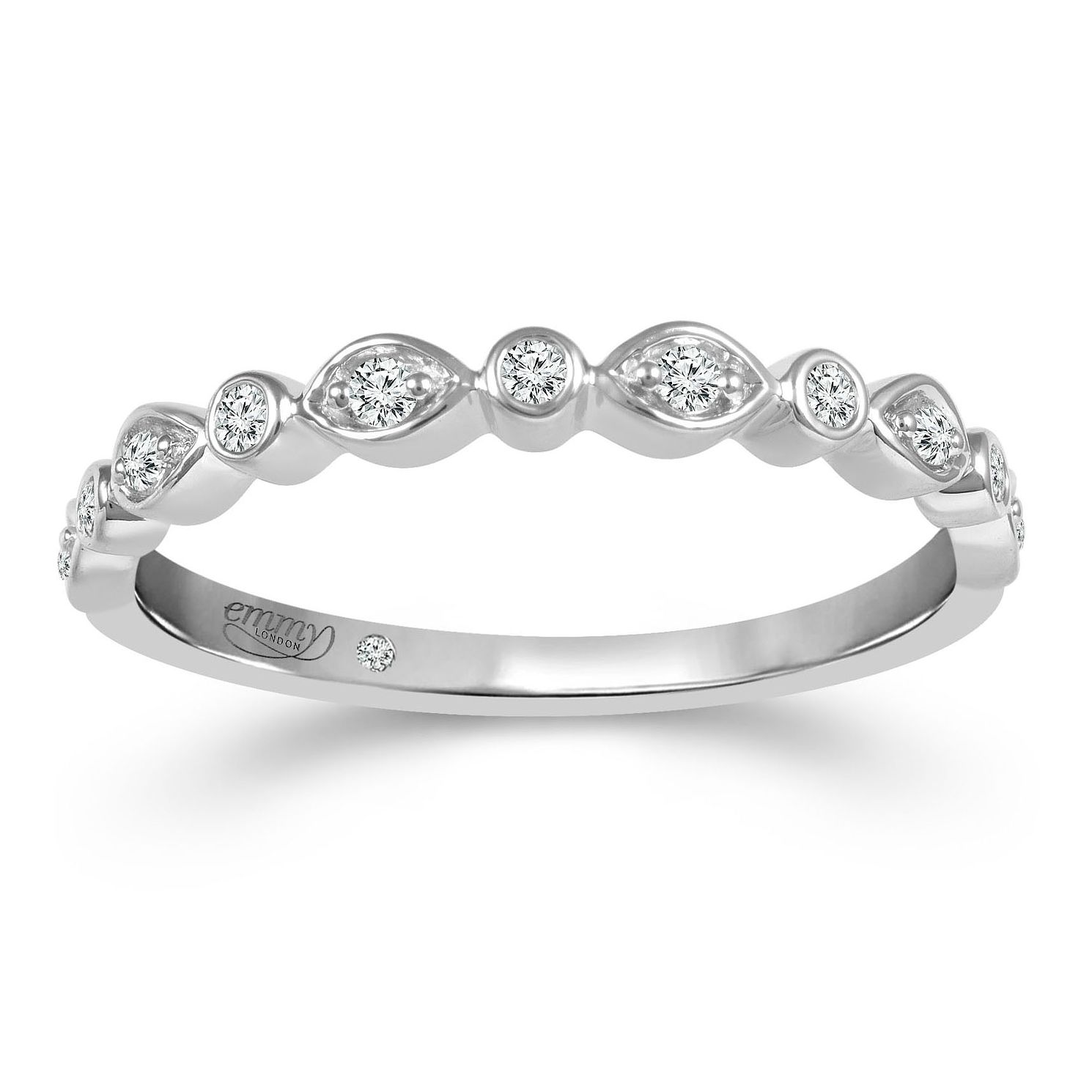 Emmy London 18ct White Gold 0.10ct Diamond Eternity Ring - Product number 2884267