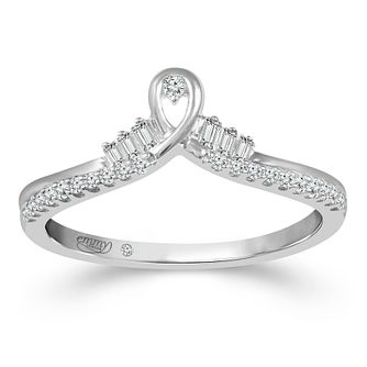 Emmy London 9ct White Gold 0.15ct Diamond Tiara Ring - Product number 2884682