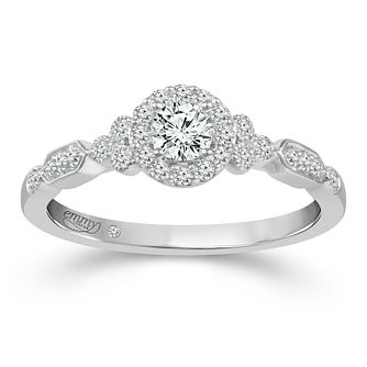 Emmy London Platinum 1/3ct Diamond Halo Ring - Product number 2886049