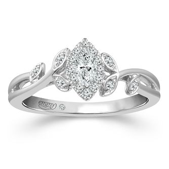 Emmy London Platinum 0.25ct Total Diamond Marquise Ring - Product number 2886456