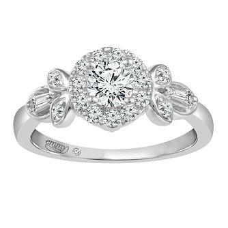 Emmy London Platinum 3/4ct Diamond Halo Ring - Product number 2886723