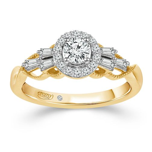 Emmy London 18ct Yellow Gold 1/2ct Diamond Ring - Product number 2888092