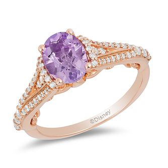 Enchanted Disney Fine Jewelry Diamond Amethyst Rapunzel Ring - Product number 2888637