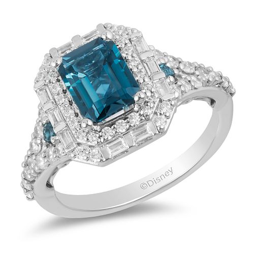 Enchanted Disney Fine Jewelry Diamond Topaz Cinderella Ring - Product number 2890518