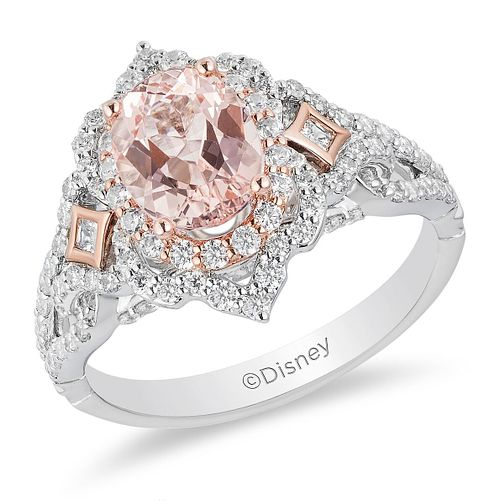 Enchanted Disney Fine Jewelry Diamond Morganite Aurora Ring - Product number 2890828