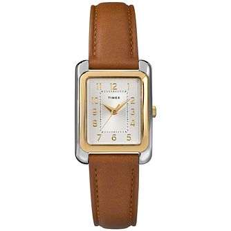 Timex Meriden Ladies' Brown Leather Strap Watch - Product number 2892286