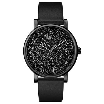 Timex Crystal Opulence Ladies' Black Leather Strap Watch - Product number 2892332