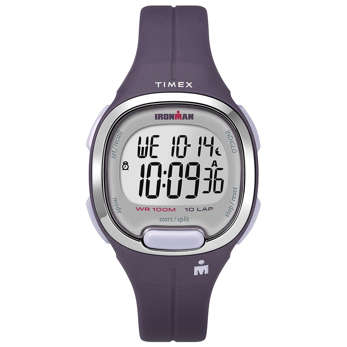 Timex Ironman Ladies' Digital Purple Resin Strap Watch - Product number 2892383