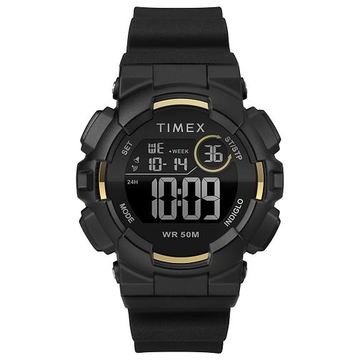 Timex Sports Men's Digitel Black Silicone Strap Watch - Product number 2892405