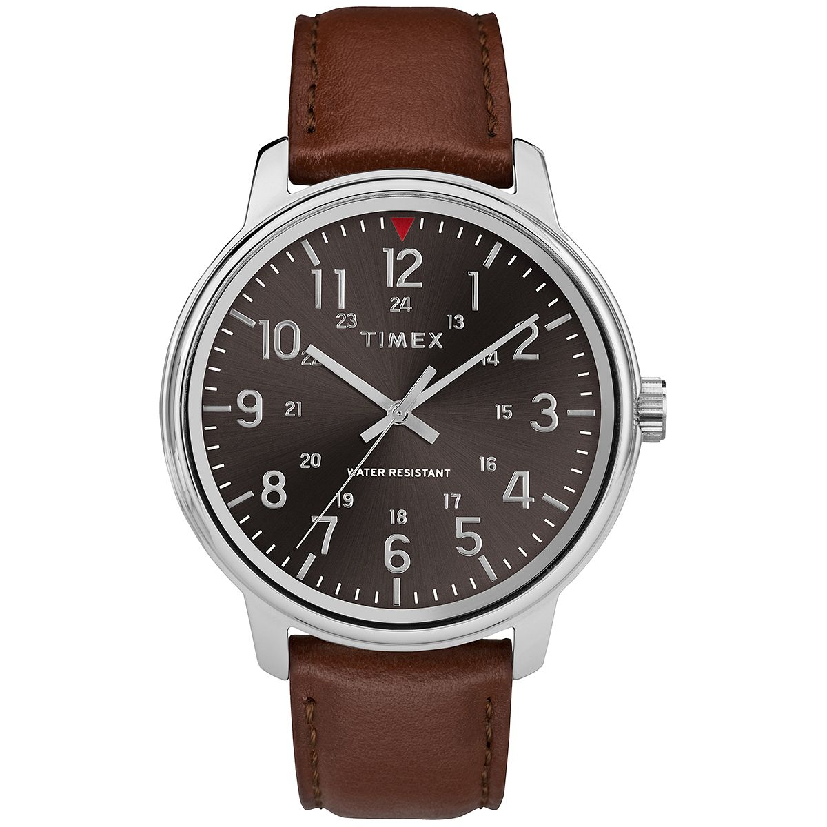 Timex Style Men's Black Dial Brown Leather Strap Watch - Product number 2892502