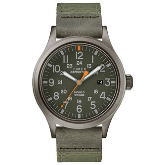 Timex Expedition Scout Men's Green Fabric Strap Watch - Product number 2892529