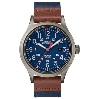 Timex Expedition Scout Men's Blue Fabric Strap Watch - Product number 2892537