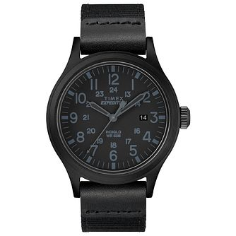 Timex Expedition Scout Men's Black Fabric Strap Watch - Product number 2892553