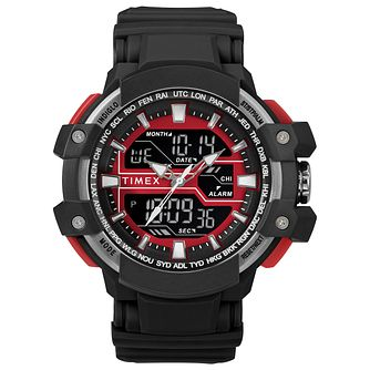 Timex Sports Men's Digital Black Resin Strap Watch - Product number 2892626
