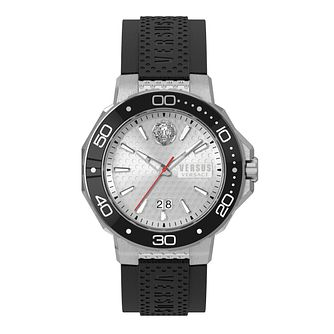 Versus Versace Men's Kalk Bay Black Leather Strap Watch - Product number 2892650