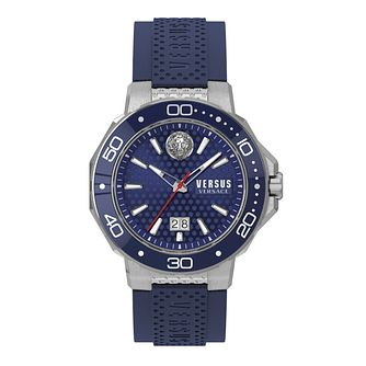 Versus Versace Men's Kalk Bay Blue Leather Strap Watch - Product number 2892669
