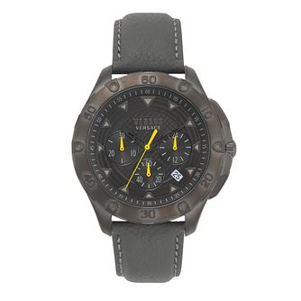 Versus Versace Men's Black Leather Strap Watch - Product number 2892685