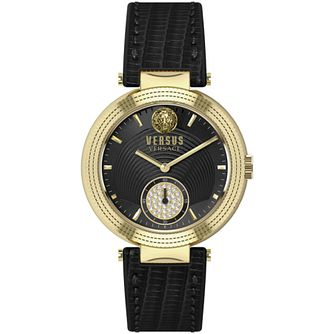Versus Versace Ladies' Star Ferry Black Leather Strap Watch - Product number 2892839