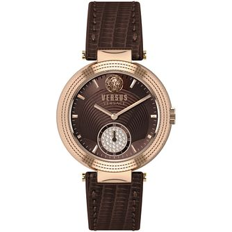 Versus Versace Ladies' Star Ferry Brown Leather Strap Watch - Product number 2892855