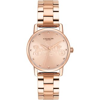 Coach Grand Ladies' Rose Gold Plated Bracelet Watch - Product number 2897083