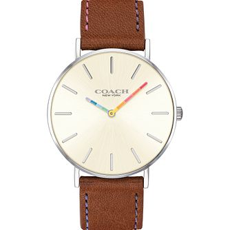 Coach Perry Ladies' Tan Leather Strap Watch - Product number 2897091