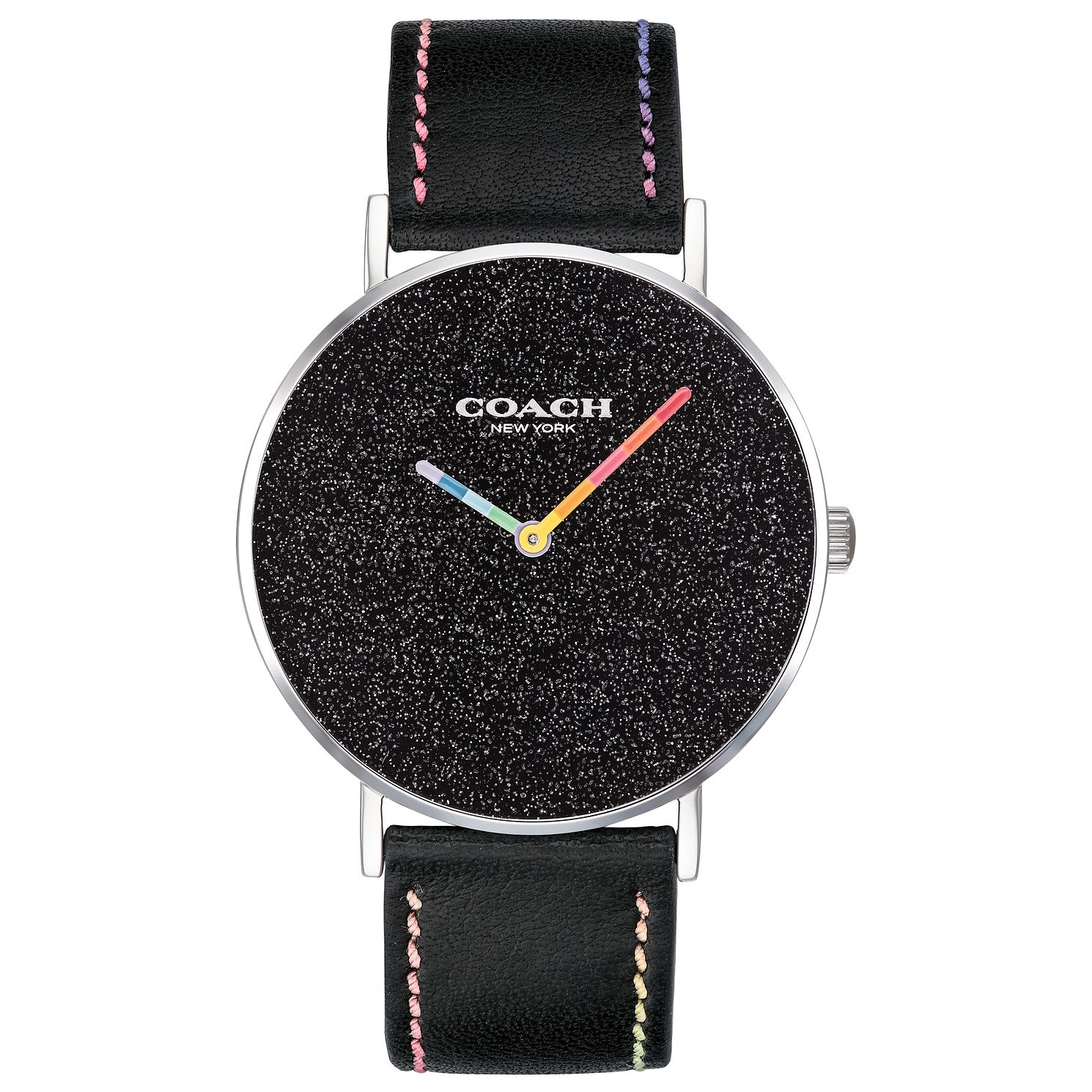 Coach Perry Ladies' Black Leather Strap Watch - Product number 2897105