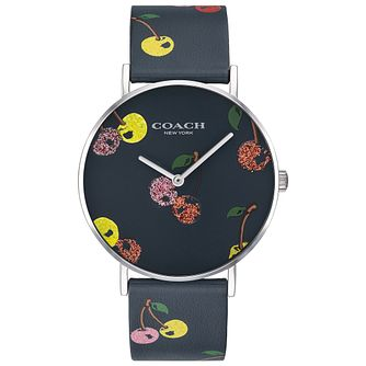 Coach Perry Ladies' Multi Colour Cherry Leather Strap Watch - Product number 2897113