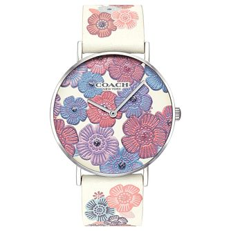 Coach Perry Ladies' Floral Leather Strap Watch - Product number 2897199