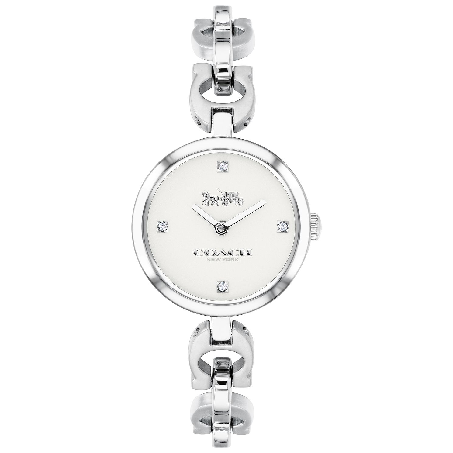 Coach Signature Chain Ladies' Stainless Steel Bracelet Watch - Product number 2897261