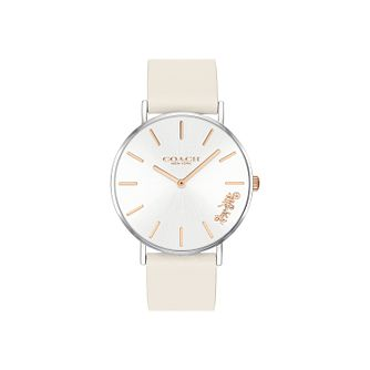Coach Perry Ladies' White Leather Strap Watch - Product number 2897288