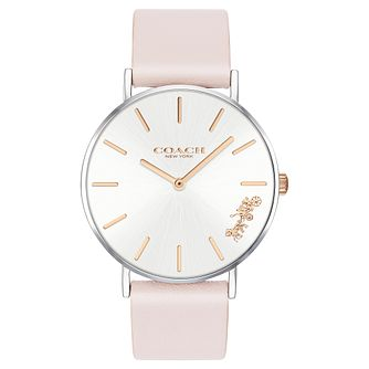 Coach Perry Ladies' Pink Leather Strap Watch - Product number 2897296